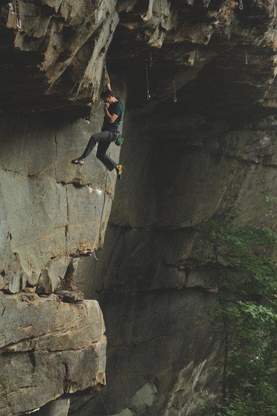 """Close Encounters"" 5.12a <br> <br> Photo: Tyler Casey"