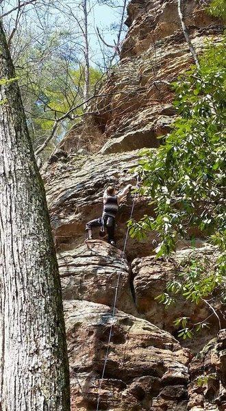 Rock Climbing Photo: on stay left
