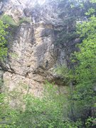 Rock Climbing Photo: The Tuba from the approach trail. Climbs to the ri...