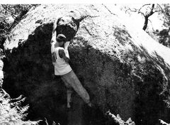 Rock Climbing Photo: The late Rob Drysdale cranking at Gloria's probabl...