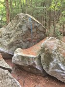 Rock Climbing Photo: This photo shows the starting holds (red) and gene...