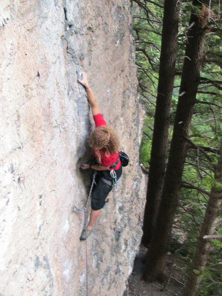 Rock Climbing Photo: Britt sending Juggernaut