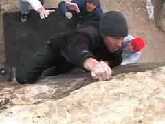 Rock Climbing Photo: Mark on the last move
