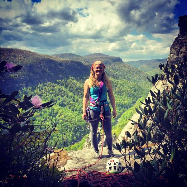 Beautiful view on top of The Mummy at Linville Gorge
