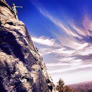 Rock Climbing Photo: Leading Jim Dandy at Table Rock