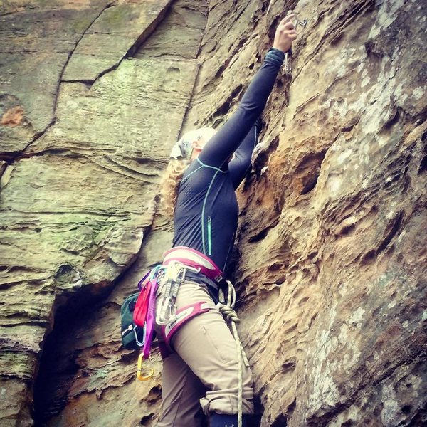 Rock Climbing Photo: Leading at Red River Gorge