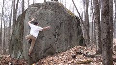 Rock Climbing Photo: Making the super-balanced, one-legged stand up.