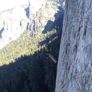 Rock Climbing Photo: Descending Middle Cathedral