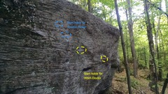 Rock Climbing Photo: Left side of The Spirit Boulder