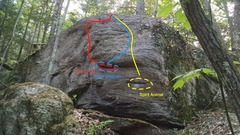 Rock Climbing Photo: Right side of The Spirit Boulder