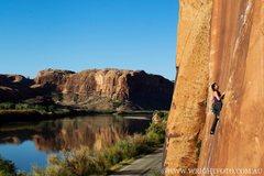 "Rock Climbing Photo: ""Nervous in Suburbia"" Moab, Utah. Potash..."