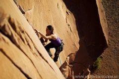 Rock Climbing Photo: Flakes of Wrath in Moab, Utah.
