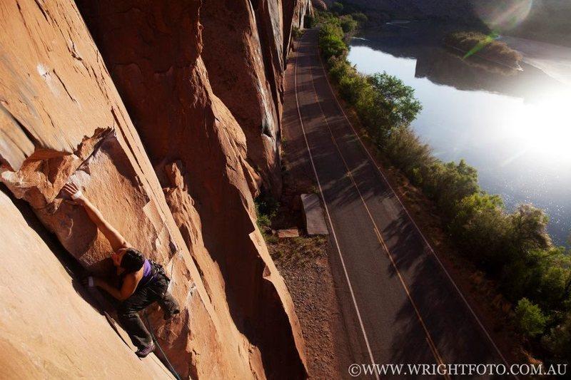 Rock Climbing Photo: Flakes of Wrath, Moab, Utah