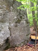 Rock Climbing Photo: The slab with the holds showing