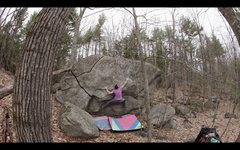 Rock Climbing Photo: Sticking the long, crux deadpoint on 'Stainless St...