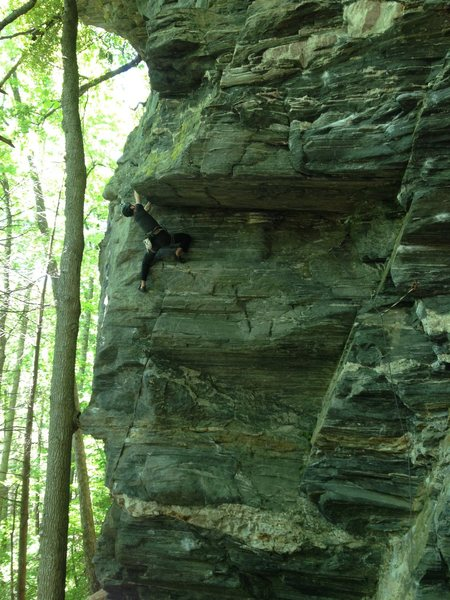 Rock Climbing Photo: Caleb Spradlin on Old School.