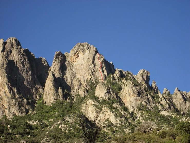 Rock Climbing Photo: View of Little Sqaretop Massif from the east.