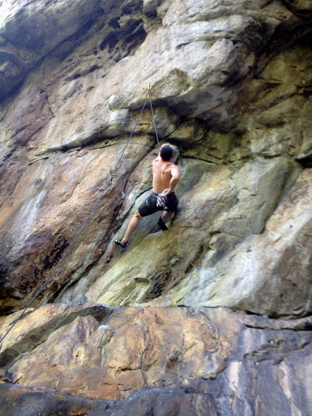 Rock Climbing Photo: chalkin' up for the pump!