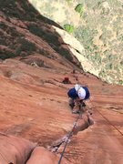 Rock Climbing Photo: Psyched we got up early, and led the train of 4 pa...