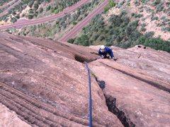 Rock Climbing Photo: Frank on The Headache