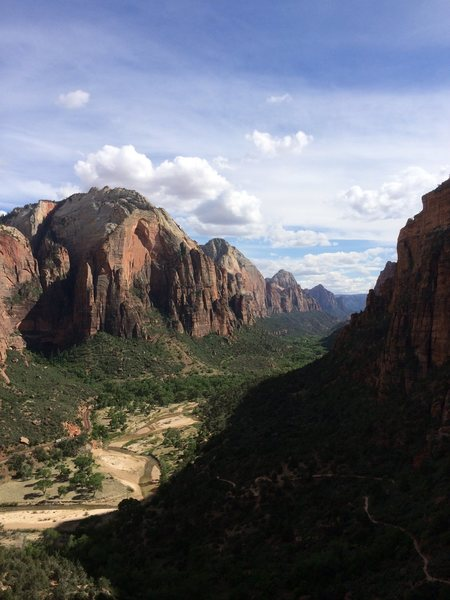 Coming down the Angel's Landing trail.