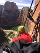 """Rock Climbing Photo: Lance """"looking out to his next adventure&quot..."""