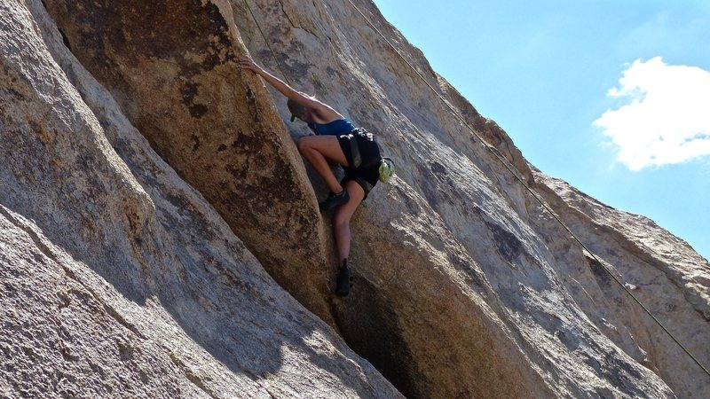 Sierra Zacks at the crux of The Snot Slot