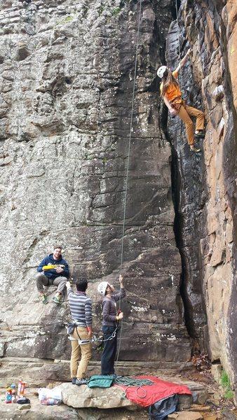 Climber on Strongman