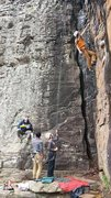 Rock Climbing Photo: Climber on Strongman