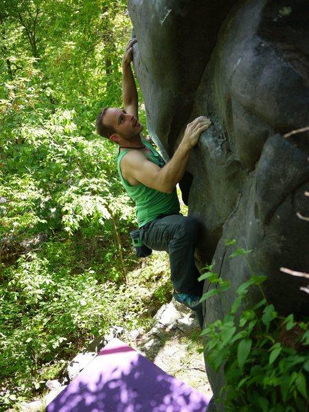 Rock Climbing Photo: Good problem.  Satermo.