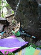Rock Climbing Photo: Satermo on the start
