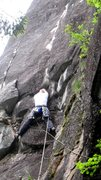 Rock Climbing Photo: On the second pitch of Velvet Pedestal, just past ...