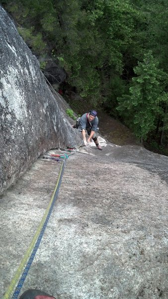 Rock Climbing Photo: Following the layback section. The Velvet Pedestal...