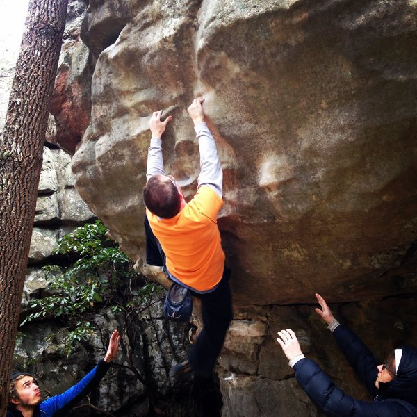 Rock Climbing Photo: Sean Ferrell on Rescue 911, v5/6 Rocktown GA
