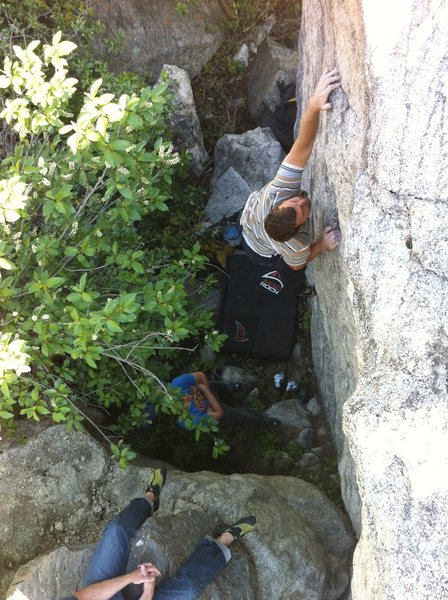 Dave climbing Space
