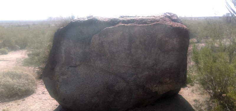 The whole rock face