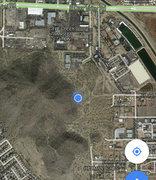 Rock Climbing Photo: Location - the blue dot.