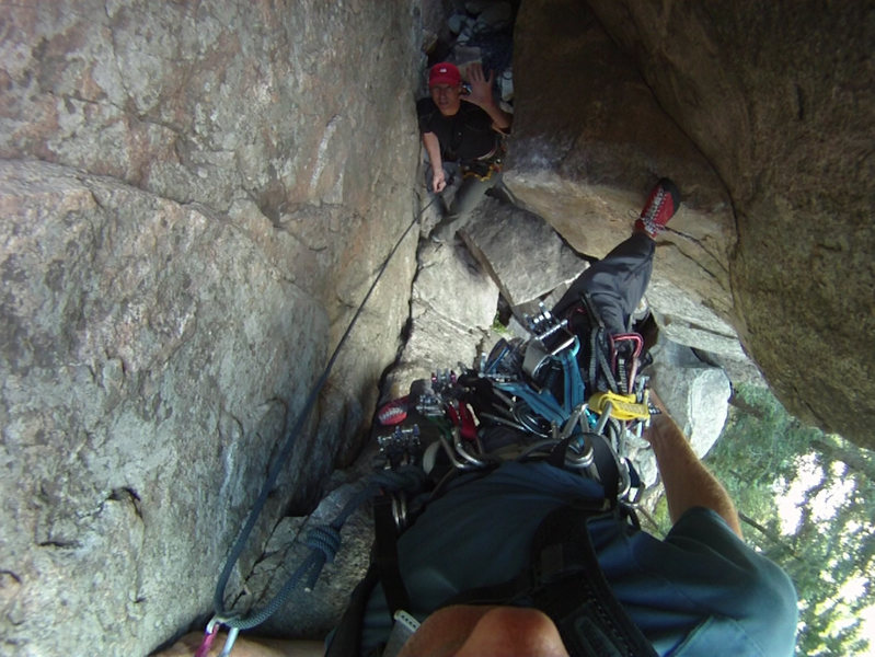 Rock Climbing Photo: Starting Empor, Cobb Rock, Boulder Canyon