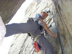Rock Climbing Photo: Keith on Empor, Cobb Rock, Boulder Canyon