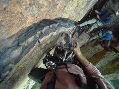 Rock Climbing Photo: Horizontal Traverse Rewritten, El Dorado Canyon