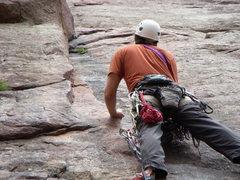 Rock Climbing Photo: Starting Calypso-El Dorado Canyon