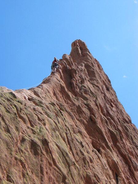 Rock Climbing Photo: Leading Montazuma