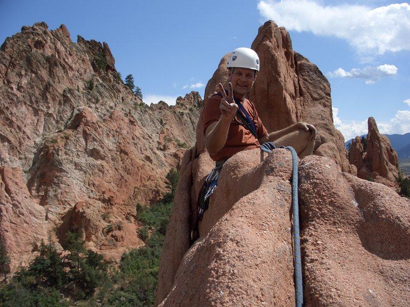 Rock Climbing Photo: Atop Montezuma
