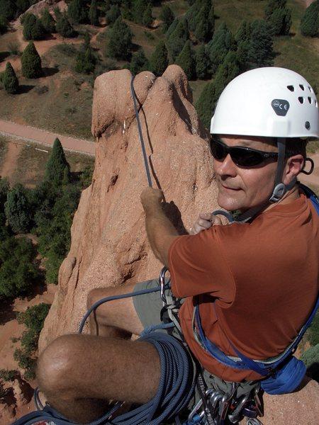 Belaying atop Montezuma