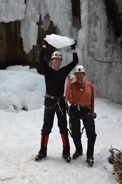 Rock Climbing Photo: Mike and Keith compare Ice