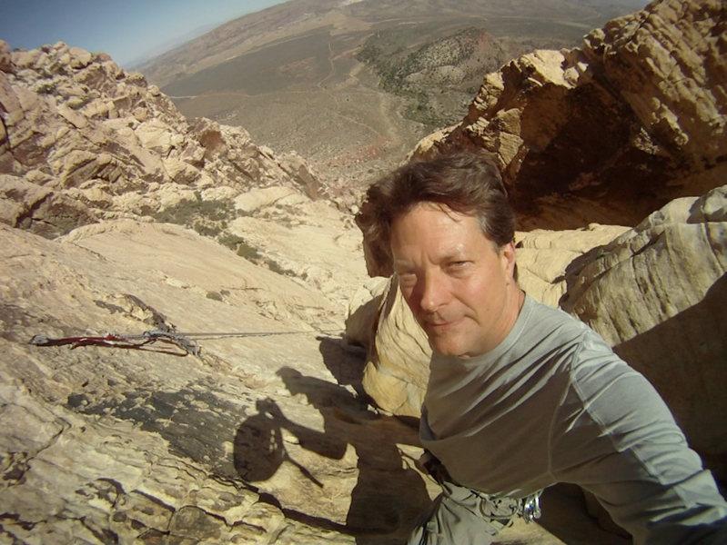 Rock Climbing Photo: Half Way up Solar Slab