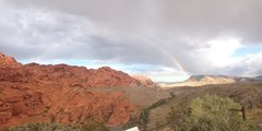 Rock Climbing Photo: Full rainbow at the 2nd pullout
