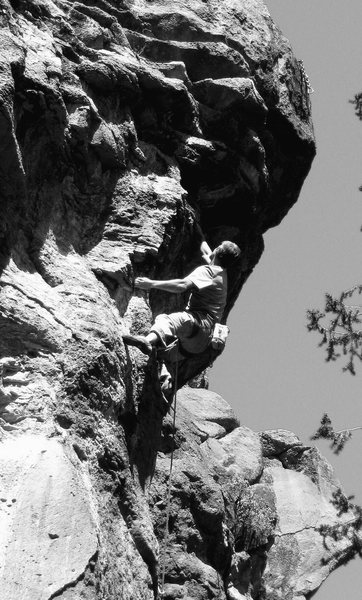 Rock Climbing Photo: JJ on Burning Point.