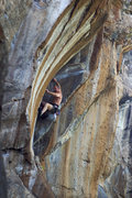 Rock Climbing Photo: Powerhouse Keith Beckley warming up the guns on Be...