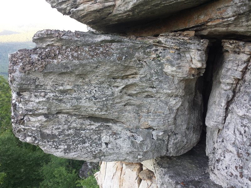 Rock Climbing Photo: Avoid the left of the route's obvious dihedral run...